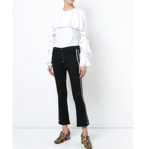 Veronica Beard- Carolyn Tux Stripe Baby Boot Jeans